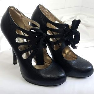 Steve Madden 8.5 Missy Mary Jane Heels Black Shoes